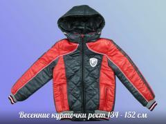Демисезонная куртка подросток (красный с