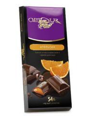 The AMOUR dark chocolate with orange jelly