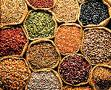 Natural spices, spicery and seasonings. Wide