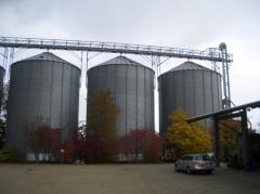 Элеваторы для хранения зерна, пеллет и элеваторные