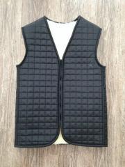 Vest raincoat fur