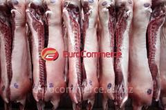 El semicanal de cerdo, la carne de cerdo en las