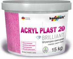 """Plaster acrylic kameshkovy """"bark"""