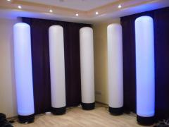 Decorative light columns