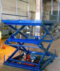 Cargo lift platform hydraulic (elevator scissors)