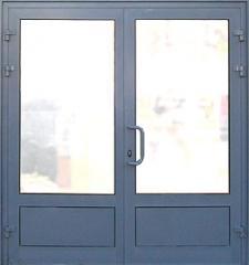 Двери алюминиевые.