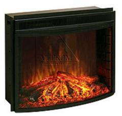 Glass fire-resistant for fireplaces and furnaces.