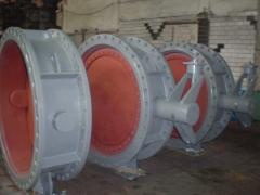Locks disk rotary with rubber consolidation of DN