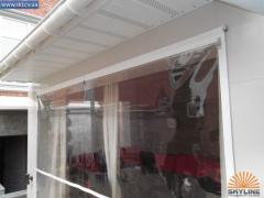 Transparent vertical marquises of PVC