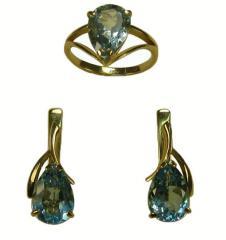 Jewelry from KD-42, SD-42 topaz