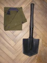 Малая саперная лопатка с чехлом (СССР)
