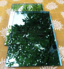 Mirror tile for walls and a ceiling with an