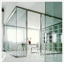 Partitions glass for office, at home, drugstores,