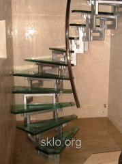 Glass ladder from safety glass