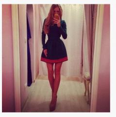 Платье Красная кайма