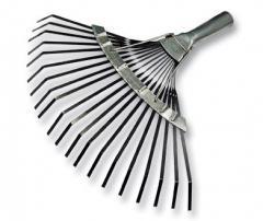Rake is manual fan lamellar, sliding