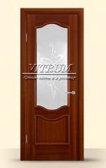 Entrance doors with an insert from strong glass