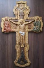 Icons, pictures, panel carved
