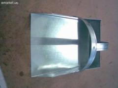 Scoop galvanized 300х300х100 for the janitor