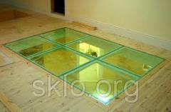 Оригинальный стеклянный пол из стекла-триплекса