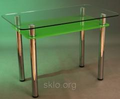 Glass furniture for an interior