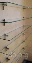Скляні полки в будинку й офісі з безпечного скла