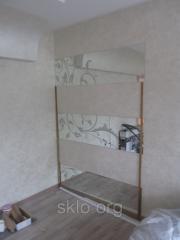 Mirror with art peskostruy