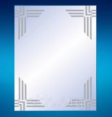Mirror with hudzhestvenny peskostruy in a