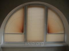 Blinds of accordion pleats