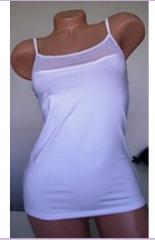 Undershirt white with Julia grid