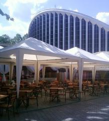 Tent for platforms of cafe and restaurants