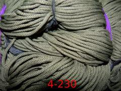Cord of 4 mm polyester with a filler