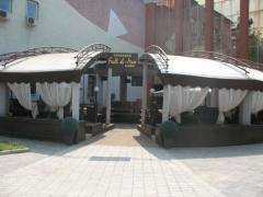 Awning design for bar on the summer platform