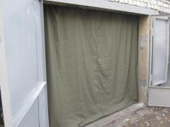 Curtains are tarpaulin