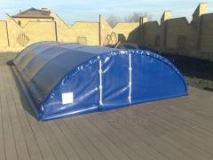 Awning covering on the pool