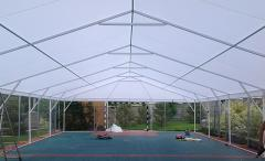 Metalframe awning design for sports grounds