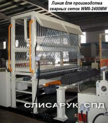 Automatic machine for production of a welded grid