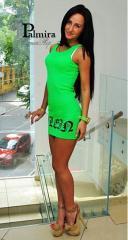 Молодежная мини-платье «Плейн Ультра» в цветах