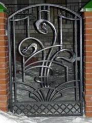 Ворота кованые, ручная ковка.