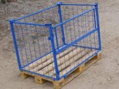The container pallet mesh folding multilevel for