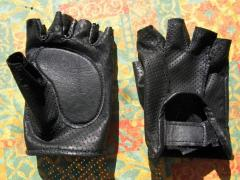 Leather gloves for bikers