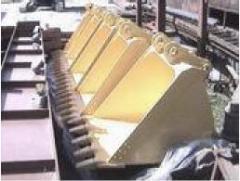 Ladles. Ladles for various types of excavators in