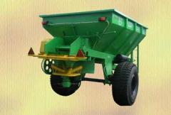 Машина для рассеивания минеральных удобрений МРД-4