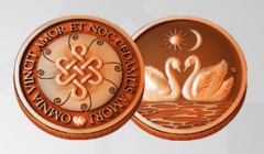 Copper coin love masc