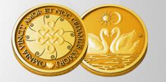 Gilded coin - a love masc