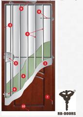 Entrance steel doors of RB-DOORS ART 509