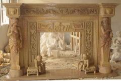 I will sell a marble fireplace (portal)