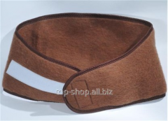 The belt warming from camel wool
