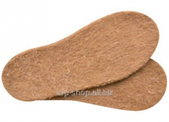 Insoles from camel hair