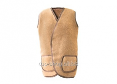 Vest from camel hair